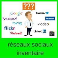 réseaux sociaux inventaire
