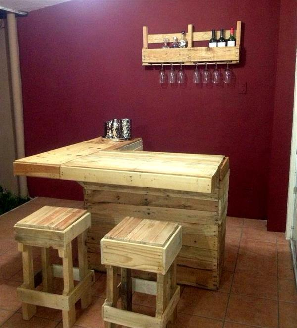Thousands of recycled pallet furniture ideas pallet for Pallet furniture bar