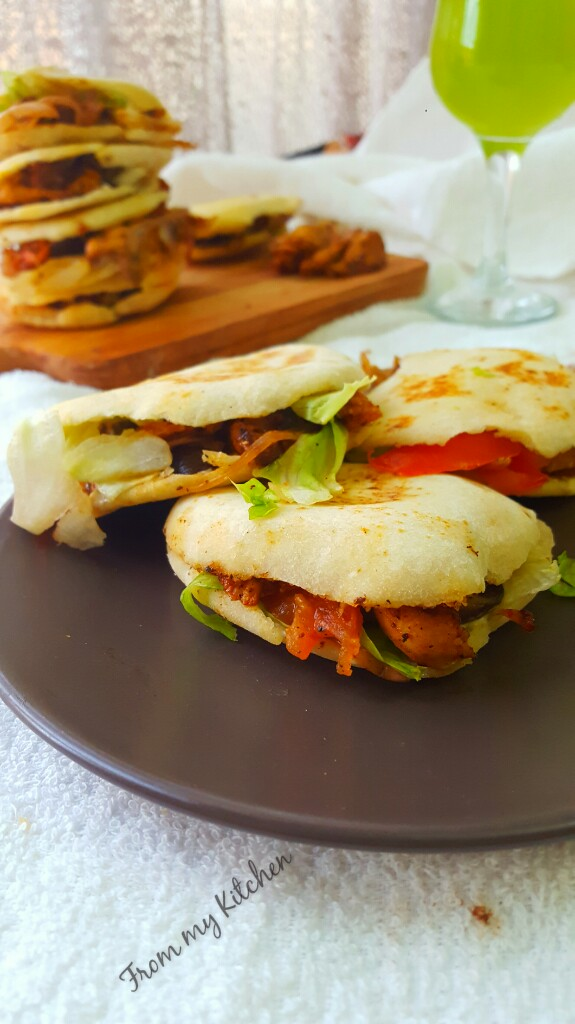From my KitchenStuffed Pita Bread.