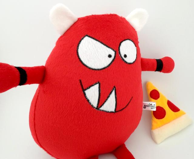 Con este monstruo rojo no hay nada que temer guyuminos de peluche