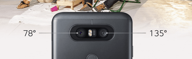 Dual cameras with wide angle lens