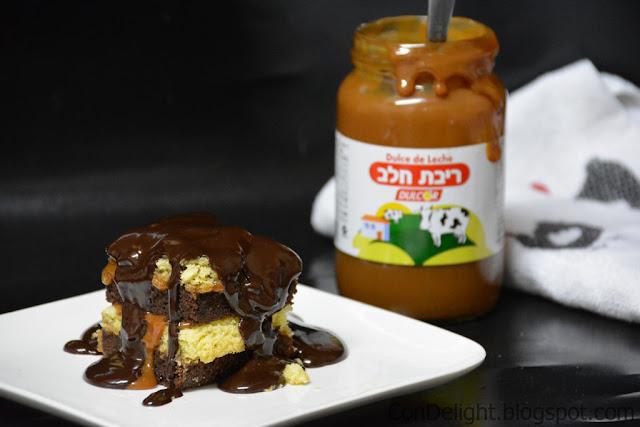 עוגת שוקולד טופי Chocolate toffee cake