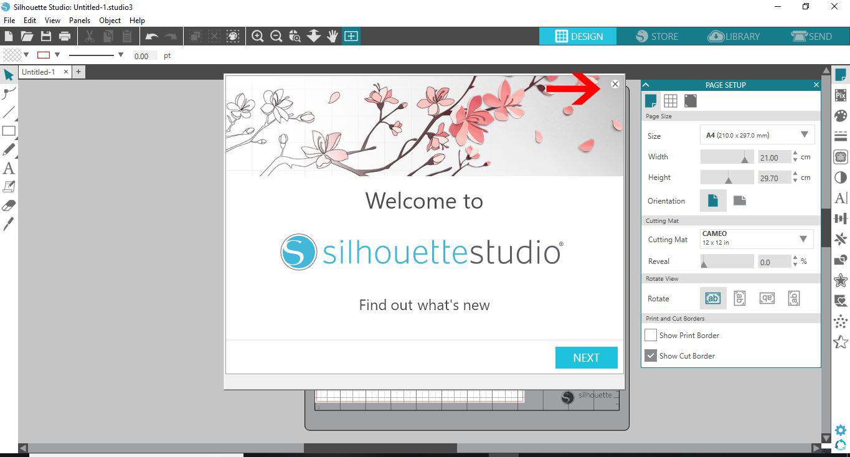 Install silhouette studio