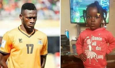 Zambian footballer loses daughter while playing football match against Nigeria