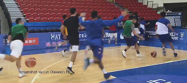 Gilas Pilipinas Players Went WILD After 'Kuya Bong' Hits a Half-Court Shot (VIDEO)