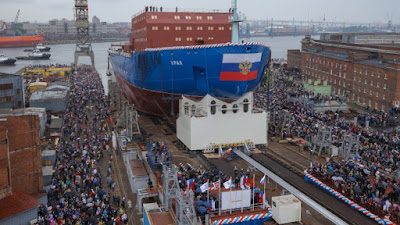Russia launched Largest Nuclear-Powered Icebreaker 'Ural'