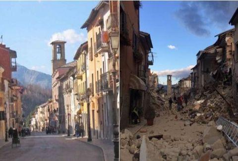 Η απόλυτη καταστροφή: Σοκάρει το πριν και το μετά του σεισμού από το χωρίο Αματρίτσε! (PHOTOS)