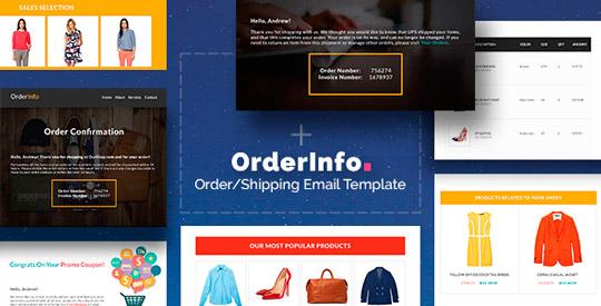 OrderInfo: Plantilla para mail de confirmación de compras + Editor para añadir módulos