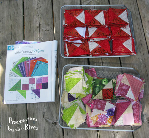 Lazy Sunday Mystery at Freemotion by the River from Quiltmaker