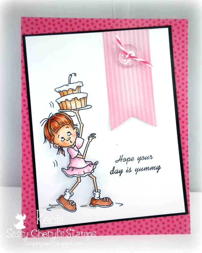 Sassy Cheryls, Kecia Waters, Copic markers, birthday card