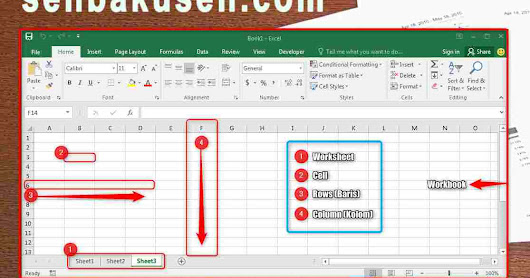 Pengenalan Workbook, Worksheet, Cell, Range, Column dan Row di Excel