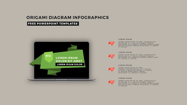 Origami Diagram Infographic Free PowerPoint Template Slide 13