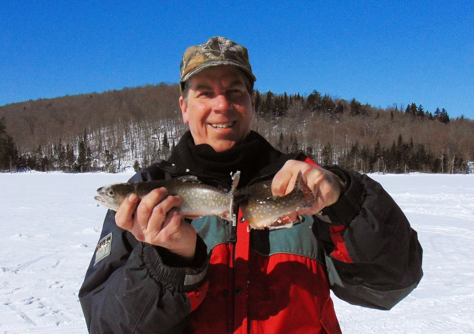 Pêche truite mouchetée en hiver, pêche omble de fontaine sur glace, Daniel Lefaivre, blogue de pêche