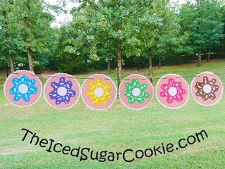 Free Donut Birthday Party Printables The Iced Sugar Cookie- Free Printable Template Cutout Pattern Flag Banner Cupcake Toppers Food Label Cards