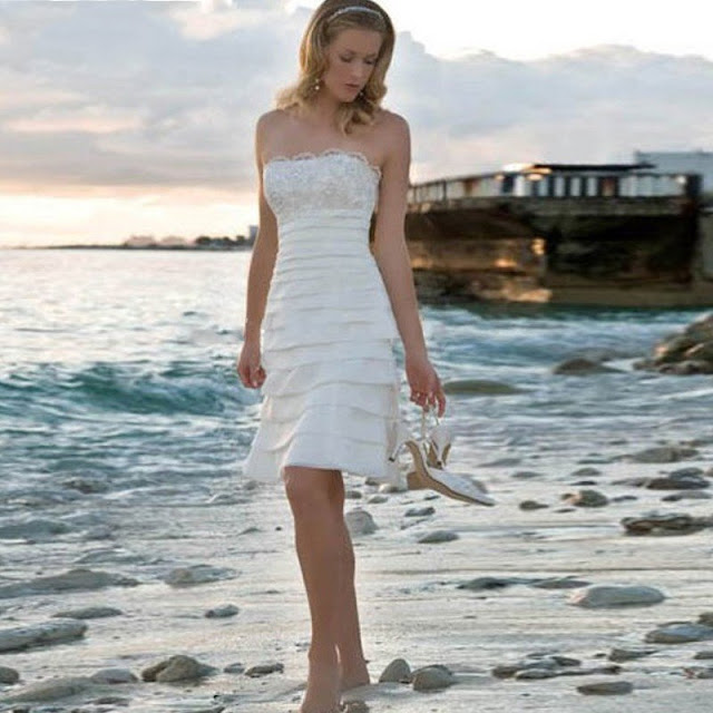 Popular Short Casual Beach Wedding Dresses