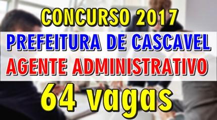 Apostila Concurso Prefeitura de Cascavel 2017 - Agente Administrativo