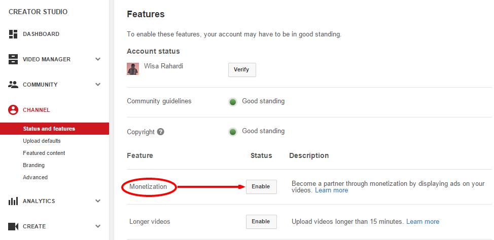 Cara Pasang Iklan Google Adsense di Youtube Terbaru