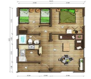 Planos casas modernas planos de casas de 50 metros cuadrados for Diseno de apartamentos de 50 metros cuadrados