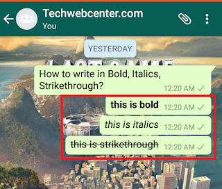How To Write in Bold in WhatsApp Chat