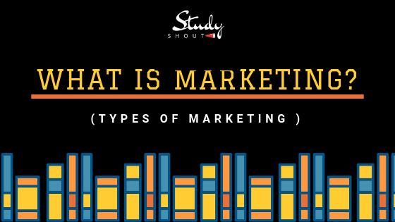Types of Marketing - StudyShout, Types of Marketing strategy, different types of marketing strategies
