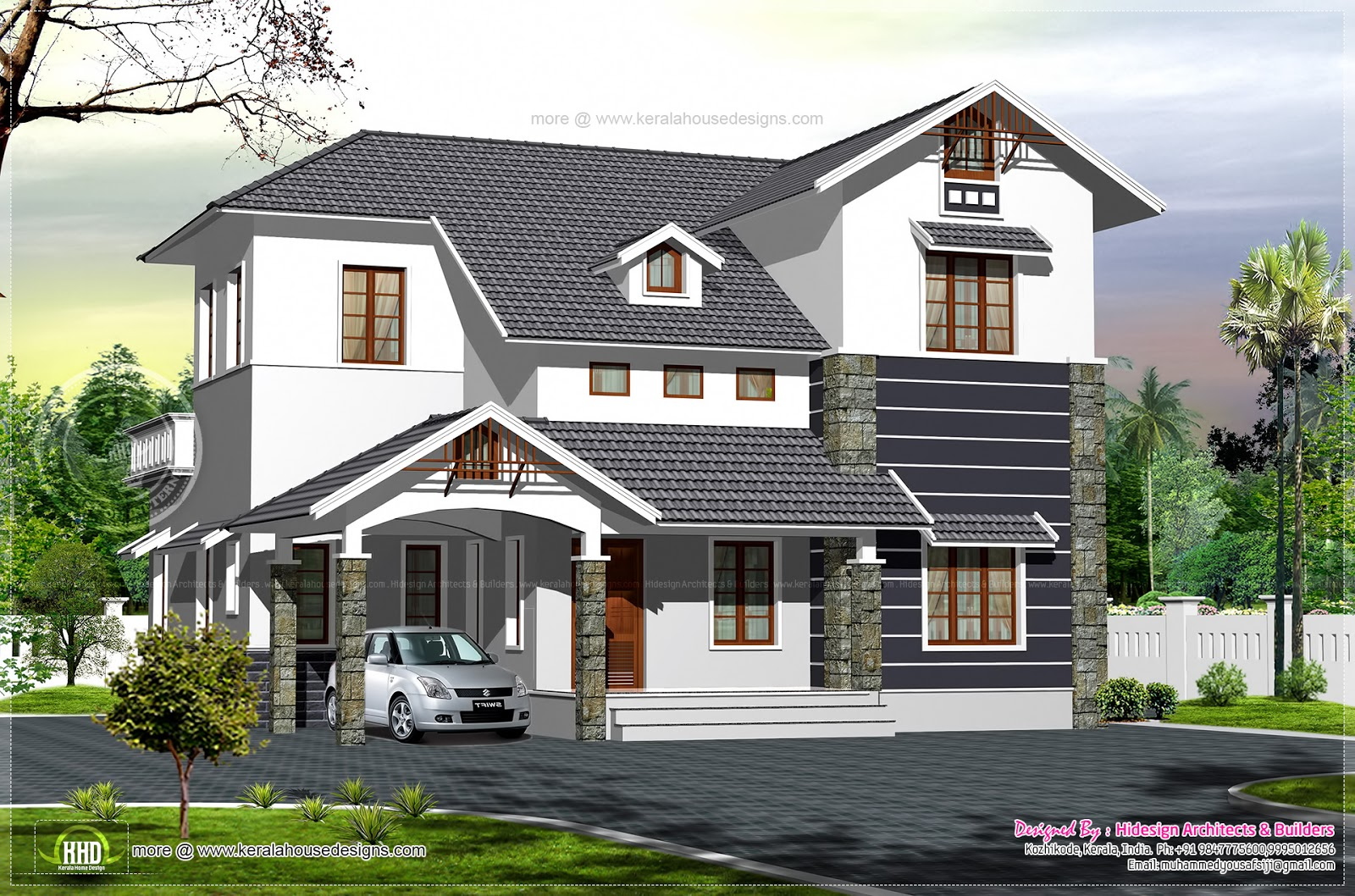 1720 Square Feet Villa Elevation House Design Plans