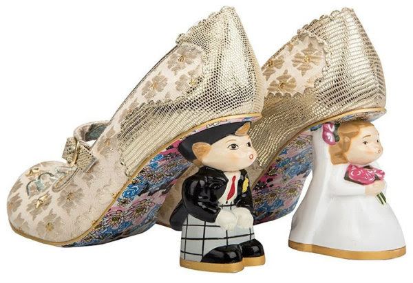 Irregular Choice i love you bride groom heels