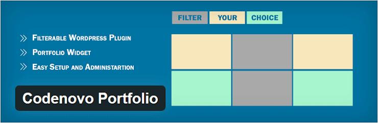 Codenovo portfolio plugin