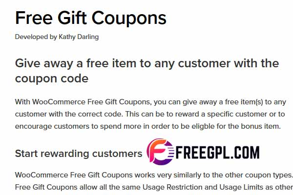 WooCommerce Free Gift Coupons Free Download