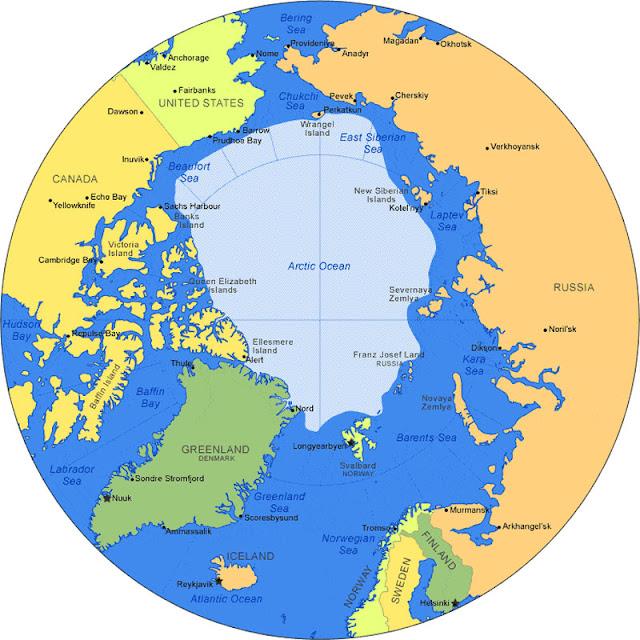 Gambar Peta Laut Arktik