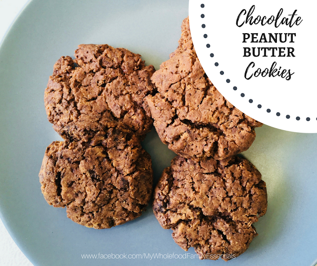 gluten free - dairy free - sugar free - chocolate peanut butter cookies - www.mywholefoodfamily.com
