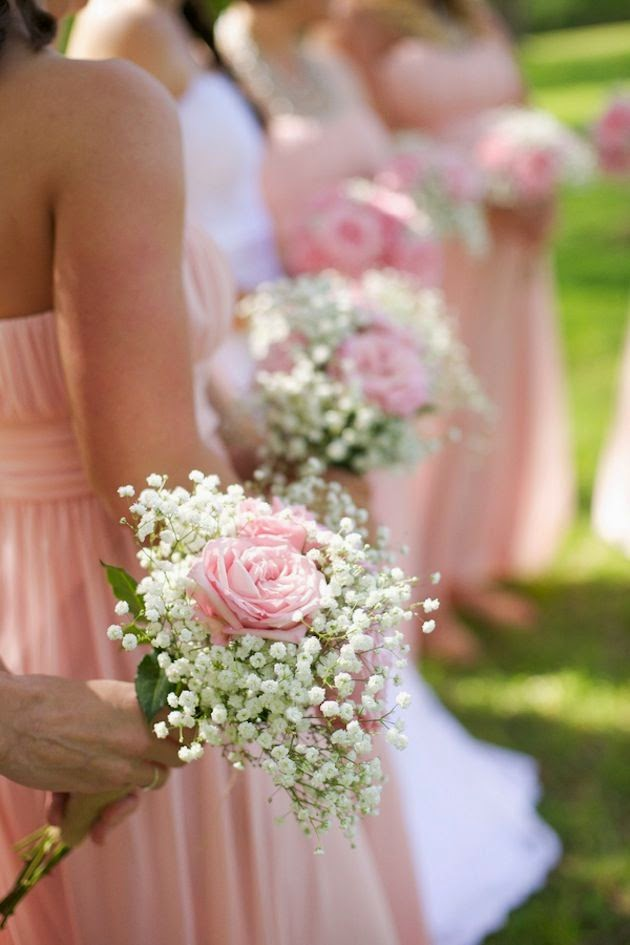 baby's breath bridesmaid bouquet