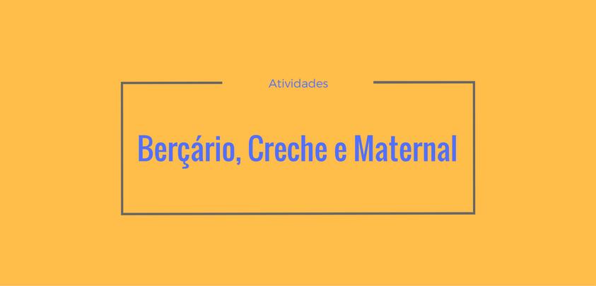 20 atividades para maternal creche e berçário sÓ escola