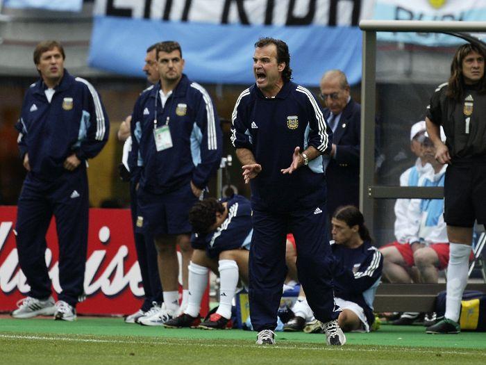 Marcelo Bielsa y Matías Almeyda en la Selección Argentina.