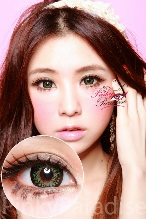 Geo Princess Mimi Apple Green Circle Lenses Colored