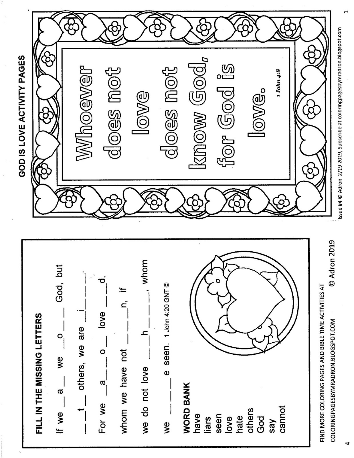 picture relating to Awana Sparks Verses Printable identified as Coloring Web pages for Young children by means of Mr. Adron: Totally free Bible Take pleasure in Verses