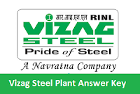 Vizag Steel Plant Answer Key
