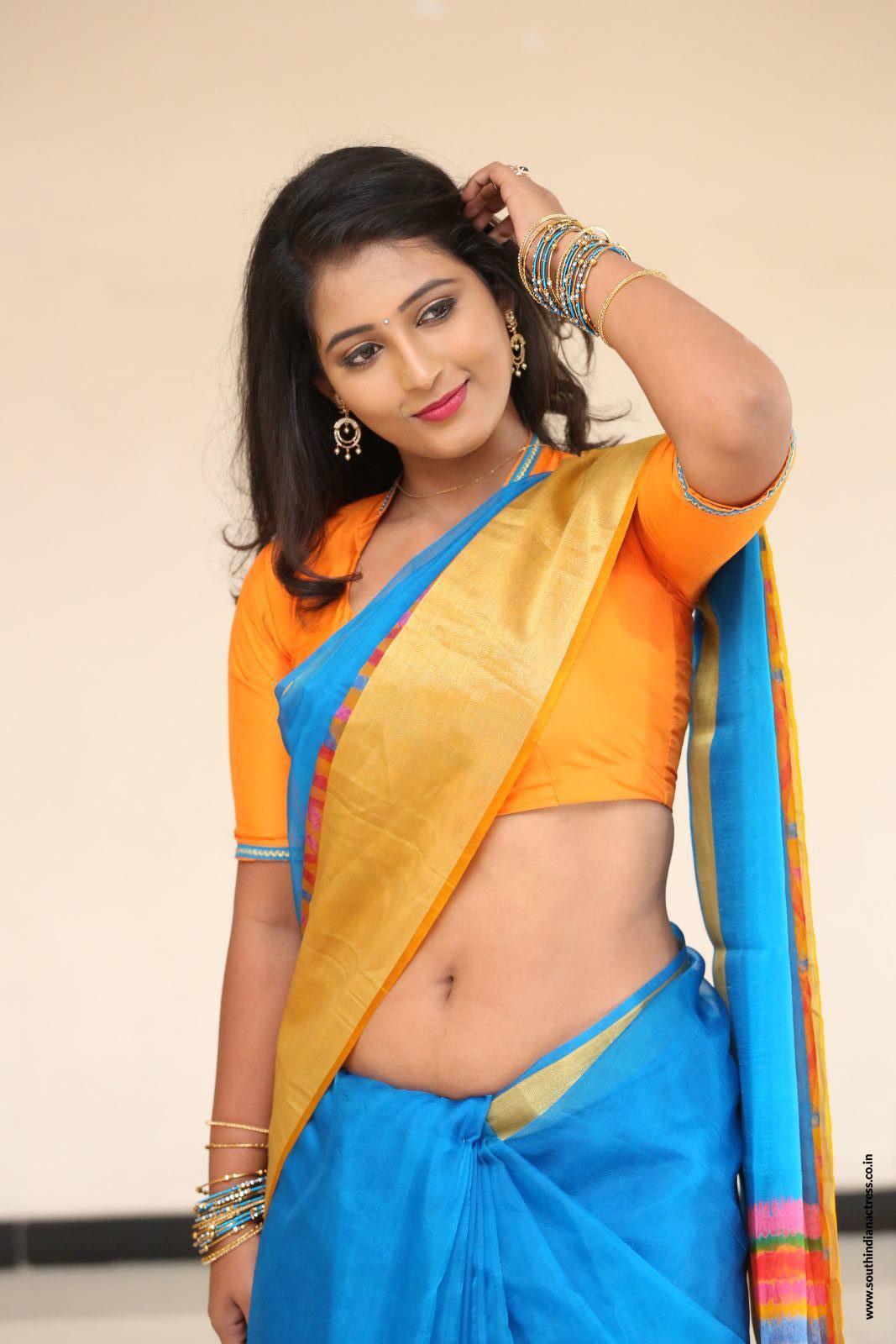 indian saree navel images