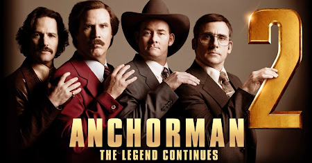 Poster Of Anchorman 2: The Legend Continues In Dual Audio Hindi English 300MB Compressed Small Size Pc Movie Free Download Only At worldfree4u.com