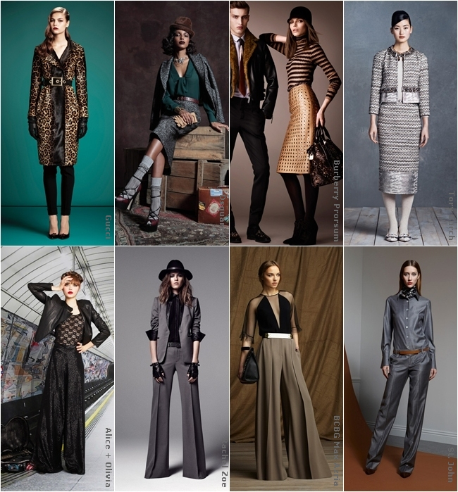 pre-fall 2013 designer collections, chic sleek and urban looks