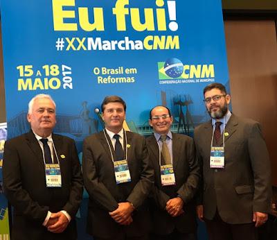 Prefeito de Sairé participa da XX Marcha em defesa dos municípios