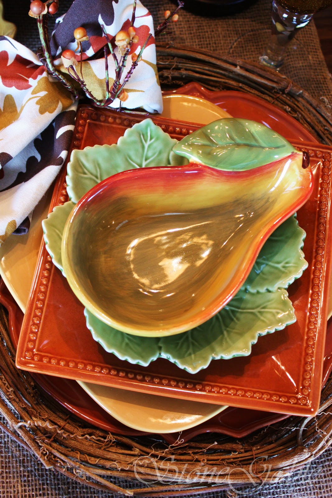 Stonegable Perfect Autumn Pear Ing Tablescape