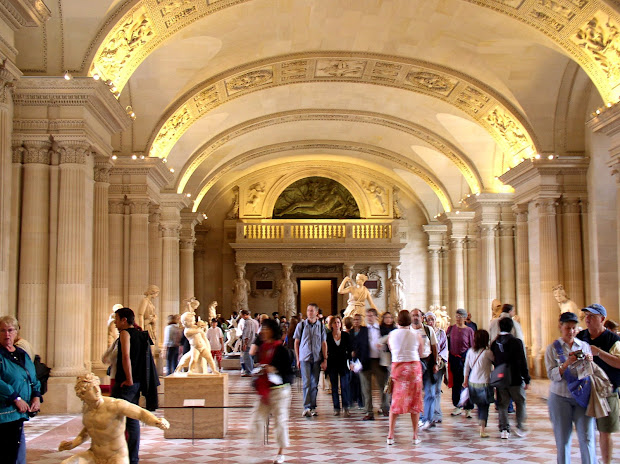 World Visits Louvre Museum Central Landmark Of France And