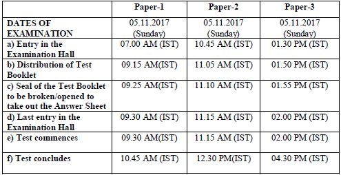 image : Time Schedule - UGC NET NOV 2017 @ cbse-net.in