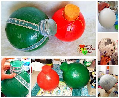 collage-bolas-esferas-navidad-papel-mache