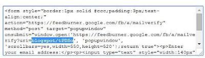 Посмотреть ID блога в аккаунте Feedburner