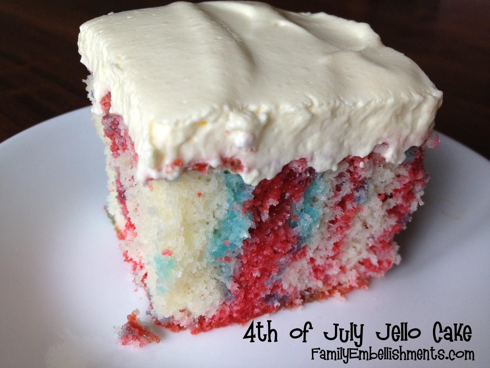 Jello Cake Frosting Recipe: Family Embellishments: 4th Of July Jello Cake