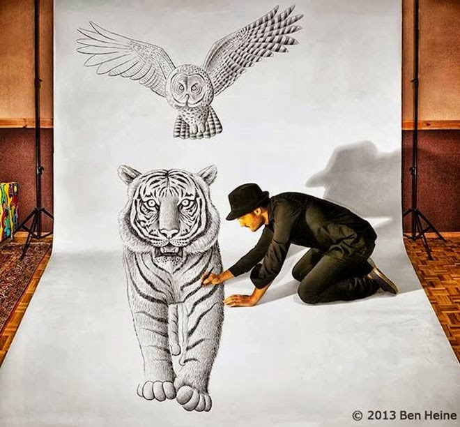 Amazing 3d Pencil Drawing By Ben Heine