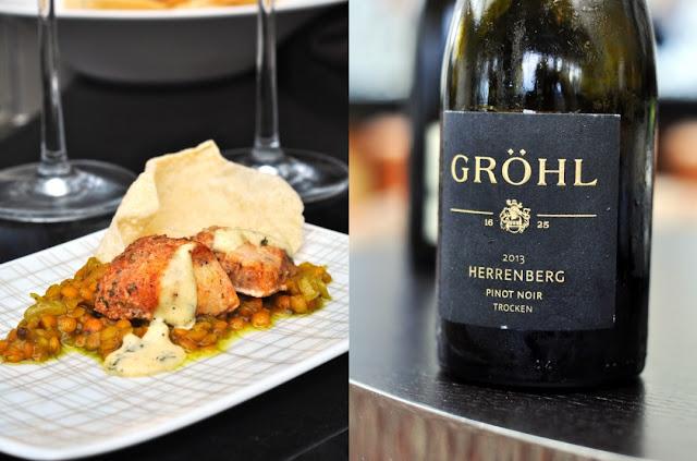 Chicken Tikka Masala mit Linsen Dal und Pinot Noir trocken vom Weingut Eckehart Gröhl