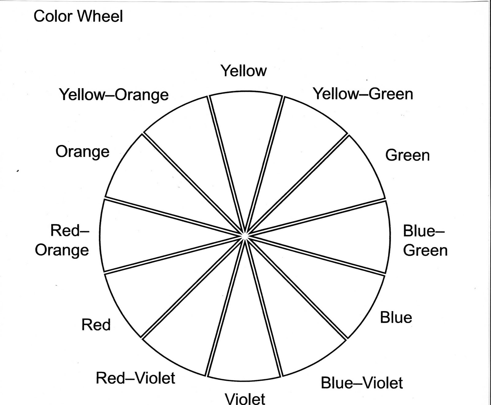 Color Wheel Printables Are Hard To Find