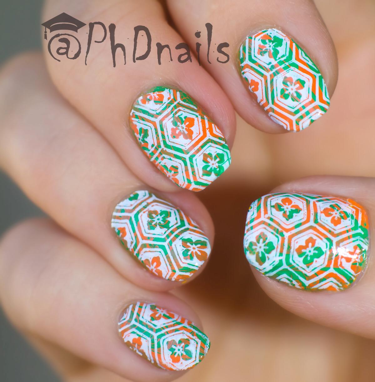 Phd Nails Mosaic Water Marble Nail Design With Pipe Dream Polish